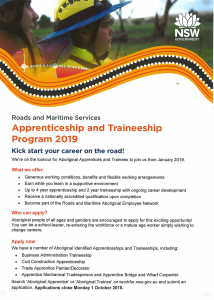 Roads and Maritime Services Apprenticeships and Traineeships