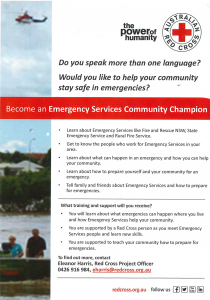 Red Cross Emergency Services Volunteer Poster