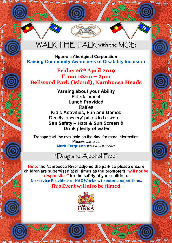 Walk The Talk with the Mob Flyer
