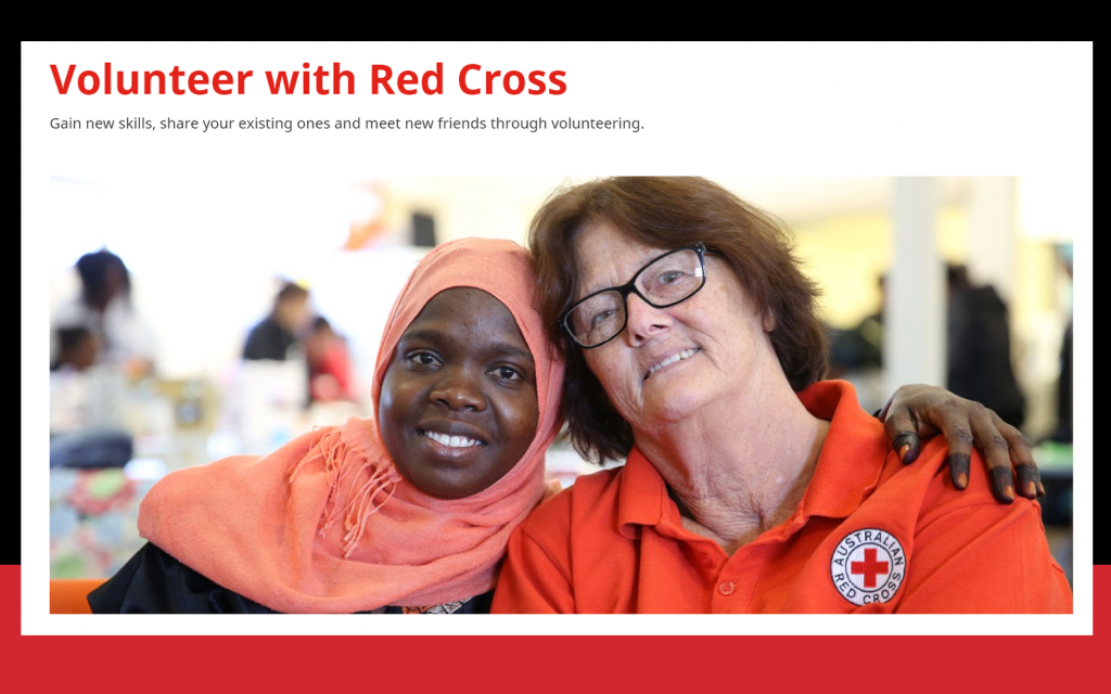 Volunteer for the Red Corss