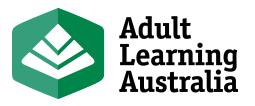 Adult Learning Australia Logo