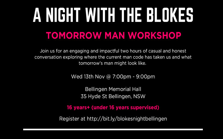 A night with blokes flyer