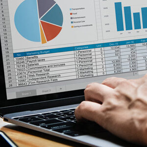 Excel on a laptop Excel Course image